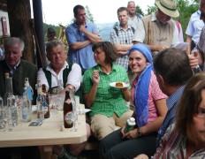 Hauptalmbegehung 2013 in Grassau mit Ministerpräsident Horst Seehofer und Ilse Aigner, damals Bundeslandwirtschaftsministerin